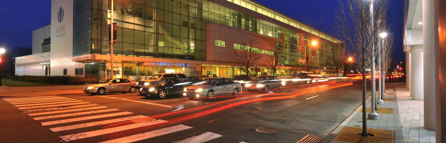 UConn Stamford Downtown at Night